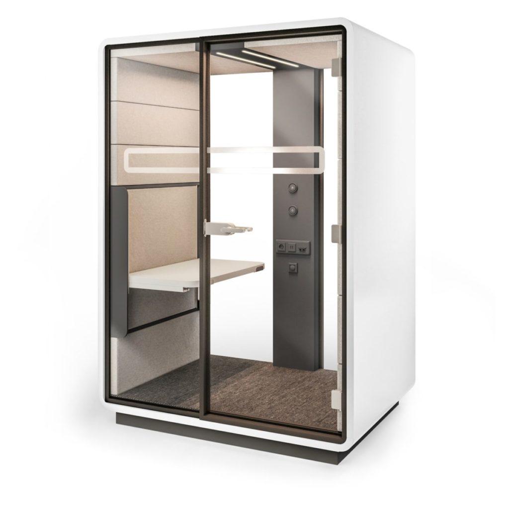 cabine acoustique avec bureau individuel