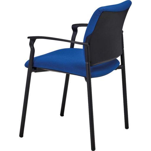 chaise de réunion Ethan avec accoudoirs bleu