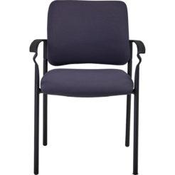chaise de réunion Ethan avec accoudoirs gris