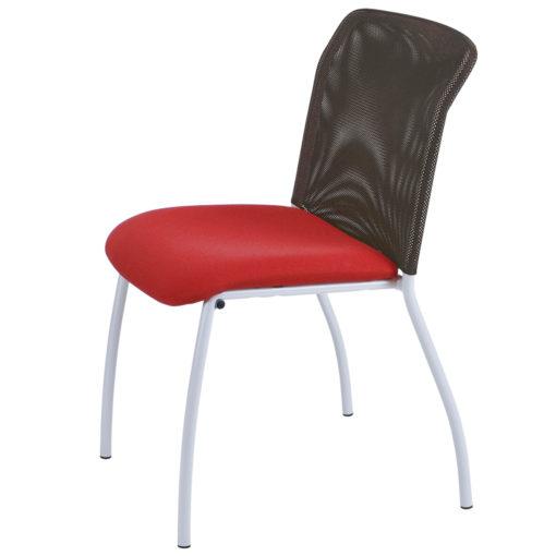 chaise de réunion Geri rouge