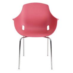 chaise mahe coque brique pieds chrome